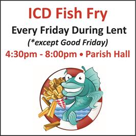 ICD Fish Fry Cancelled